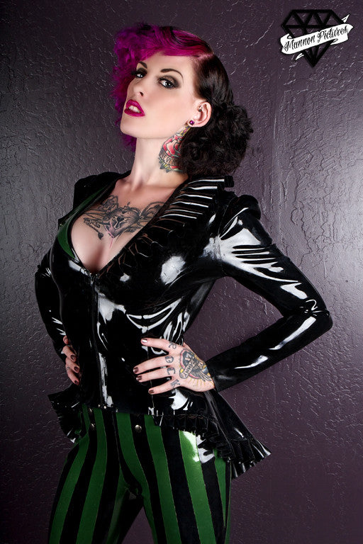 Asymmetrical Latex Tail Coat