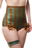 High Waisted Striped Latex Carnival Knickers