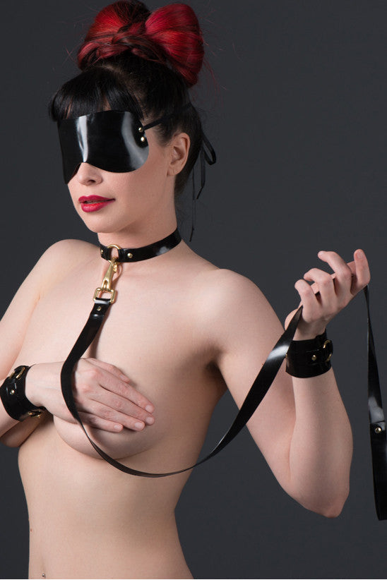 Latex Wrist Cuffs with O-rings and Connecting Clip