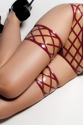 Crosshatch Latex Garters