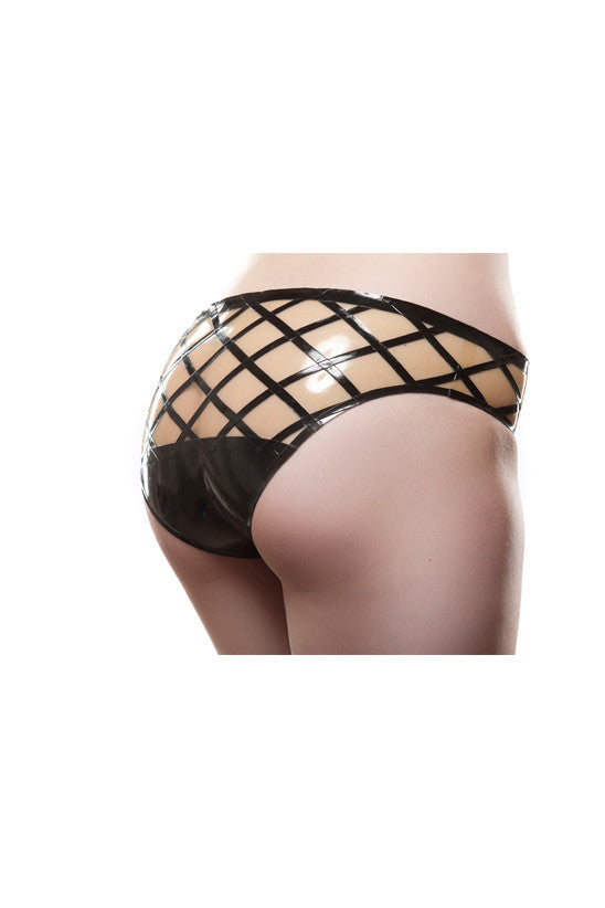Crosshatch Latex Panty