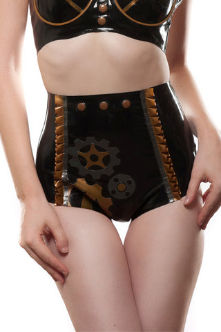 Geared Up Latex Steam Punk Panties