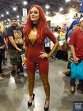 Dark Phoenix Rising Latex Catsuit