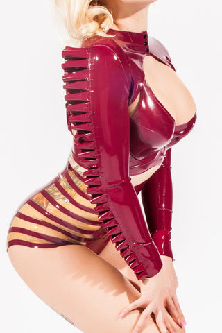 Ruffled Sleeve Latex Bolero