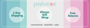 free returns free shipping patucos