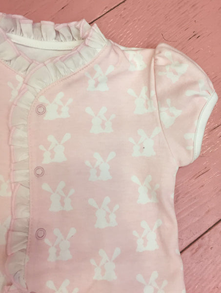 Cotton Pink Pajama with little bunnies Pima Cotton