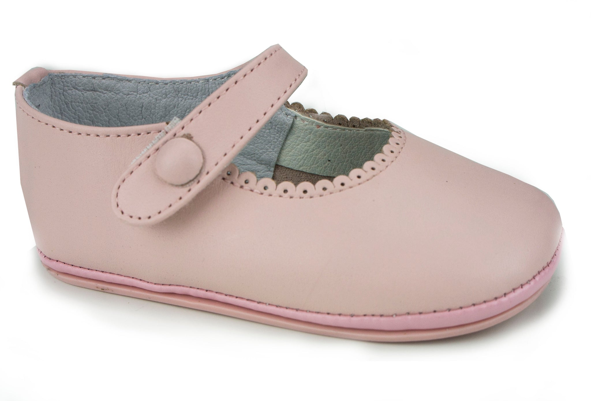 Casual Soft Leather Mary Janes Pink Shoes for Girls
