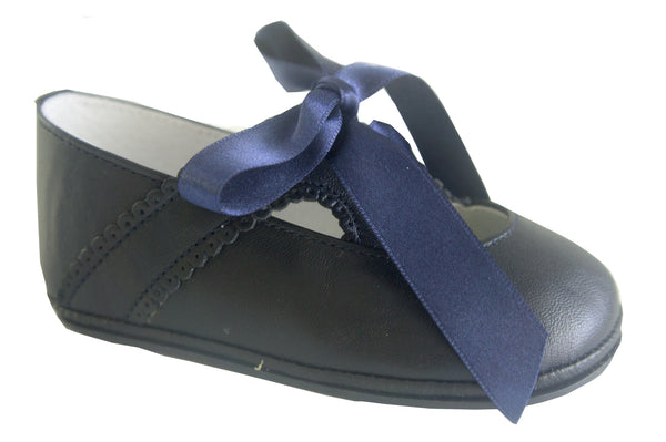 Patucos Infant Classic Navy Blue Shoes for Girls