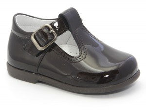 Patucos Infant Dark Brown Patent Shoes for boys