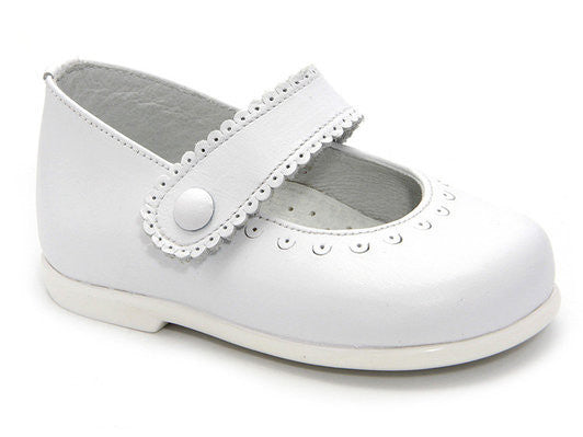 261294037f6cb Classic White Leather Mary Janes Shoes for Girls Patucos Shoes Baby and  Infants