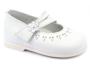 Classic White Soft Leather Mary Janes Shoes for Girls Patucos Shoes