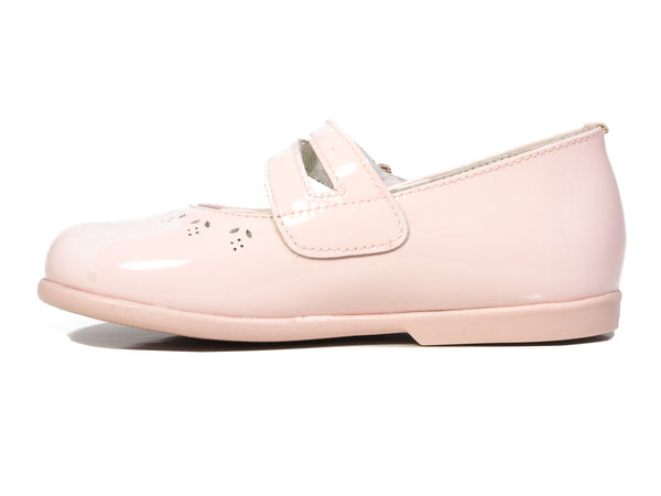 Patucos Infant Pink patent Leather Shoes for Girls