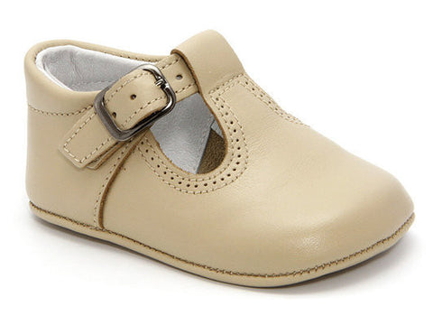 Patucos Infant Classic Premier Camel soft Leather Shoes for Boys