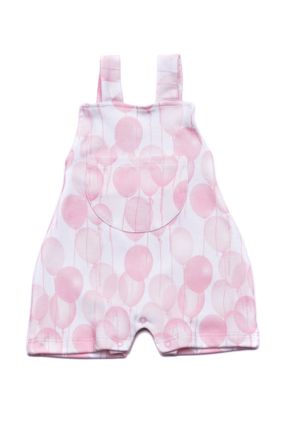 Baby Rompers Pink Ballons Pima Cotton