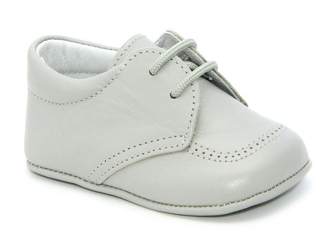 Classic Light Grey leather  Booties for Baby unisex