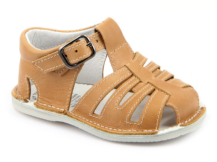 Casual Sandals Camel for Boys Leather Patucos Shoes for baby and infant