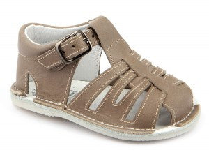 Casual Sandals Beige for Boys Leather Patucos Shoes for baby and infant