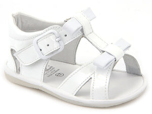 Casual Sandals White for girls with two leather Laces
