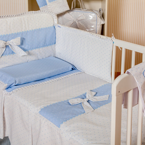 Baby cot quilt and bumper