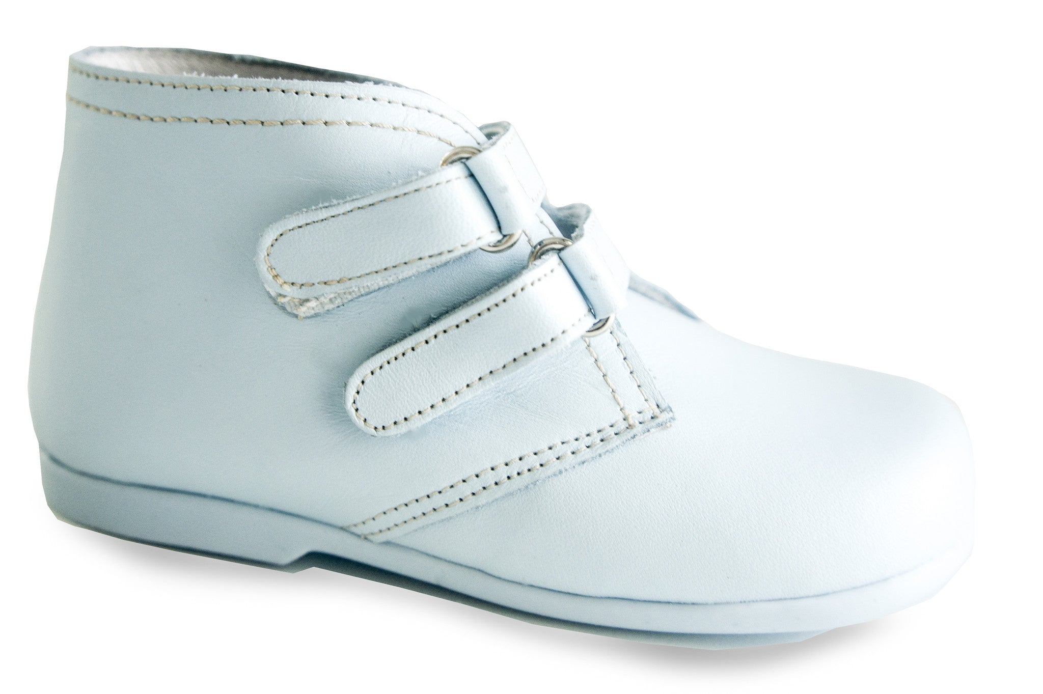 Classic Light Blue leather Boots unisex for boys and girls by Patucos