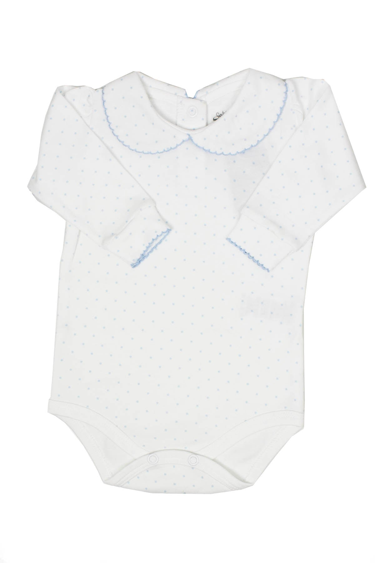 Pima Cotton Body little blue dots with neck