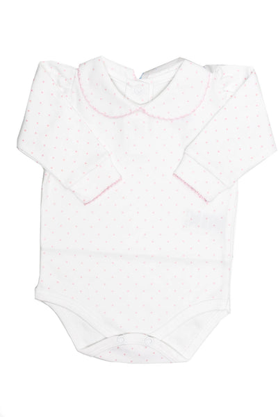 Pima Cotton Body little pink dots with neck