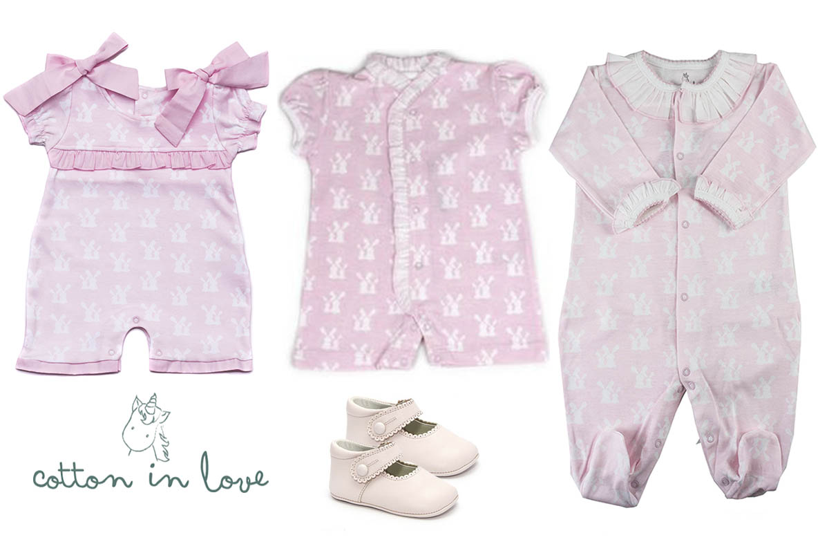 Pink Bunnies Complete Collection 4- pieces SET