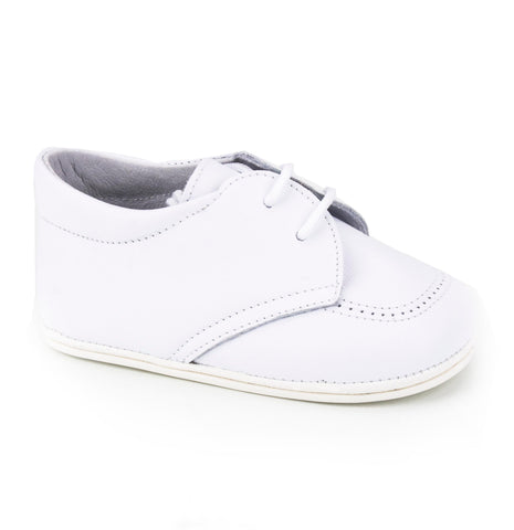 Classic Soft Leather Booties for Girls White by Patucos