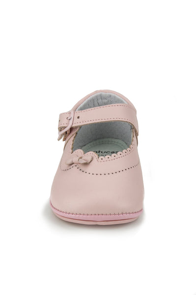 Patucos Infant Classic soft lovely leather Pink Shoes for Girls