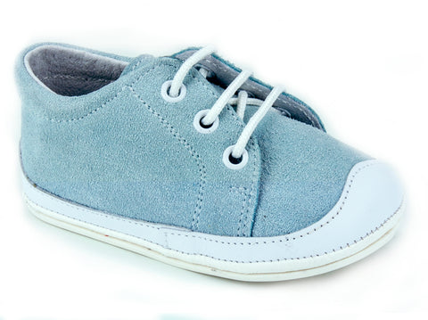 Classic Spot Suede Booties unisex for Boys and Girls Light Blue by Patucos