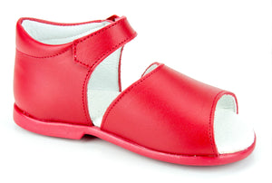 Casual Leather Patucos Sandals for Girls and boys Red by Patucos