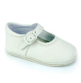 Patucos Soft Leather Mary Janes Beige Shoes for girls