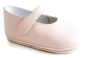 Patucos Infant Pink Soft Leather Shoes for Girls