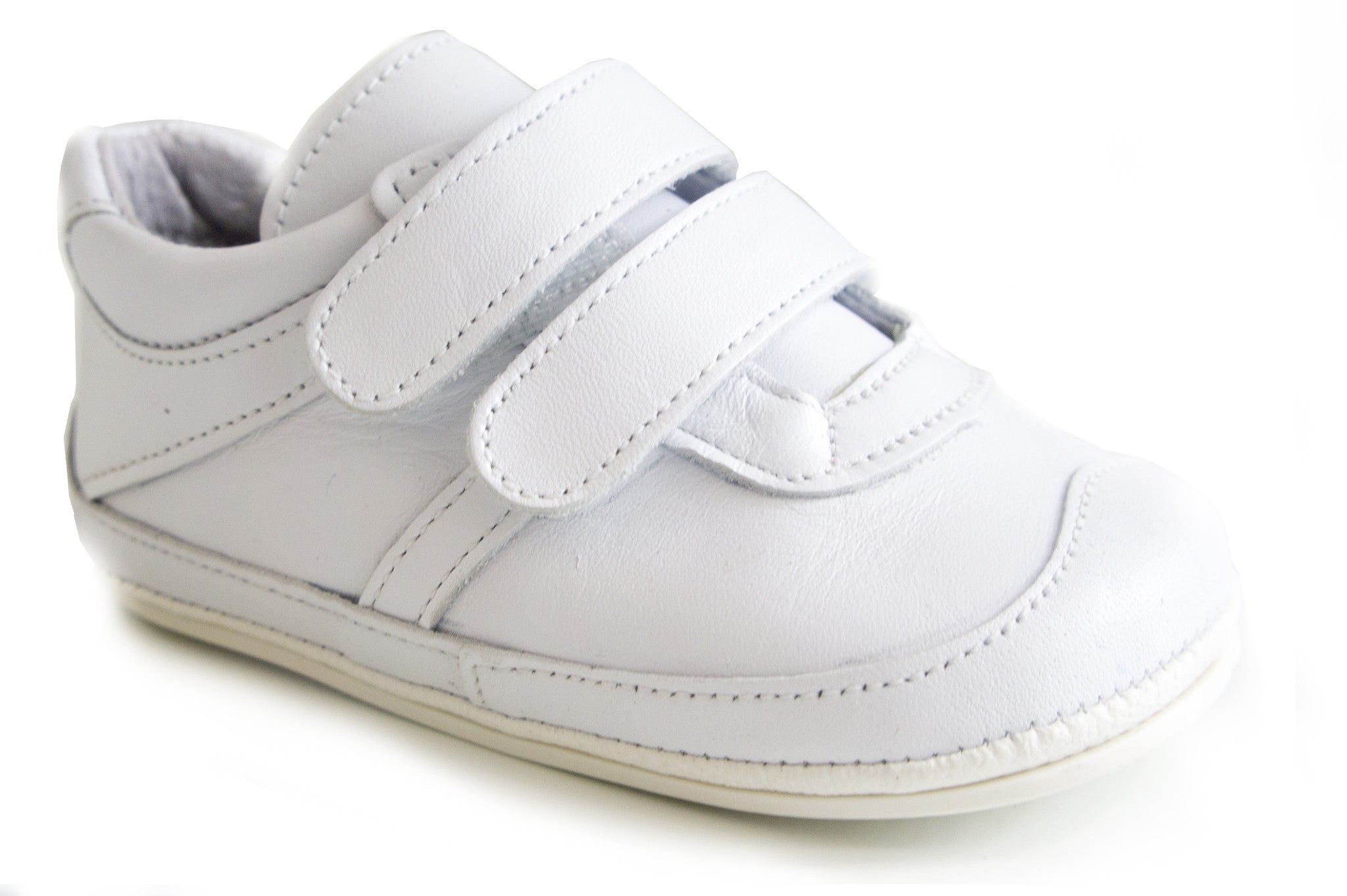 Casual Sport White soft leather shoes unisex for boys and girls by Patucos