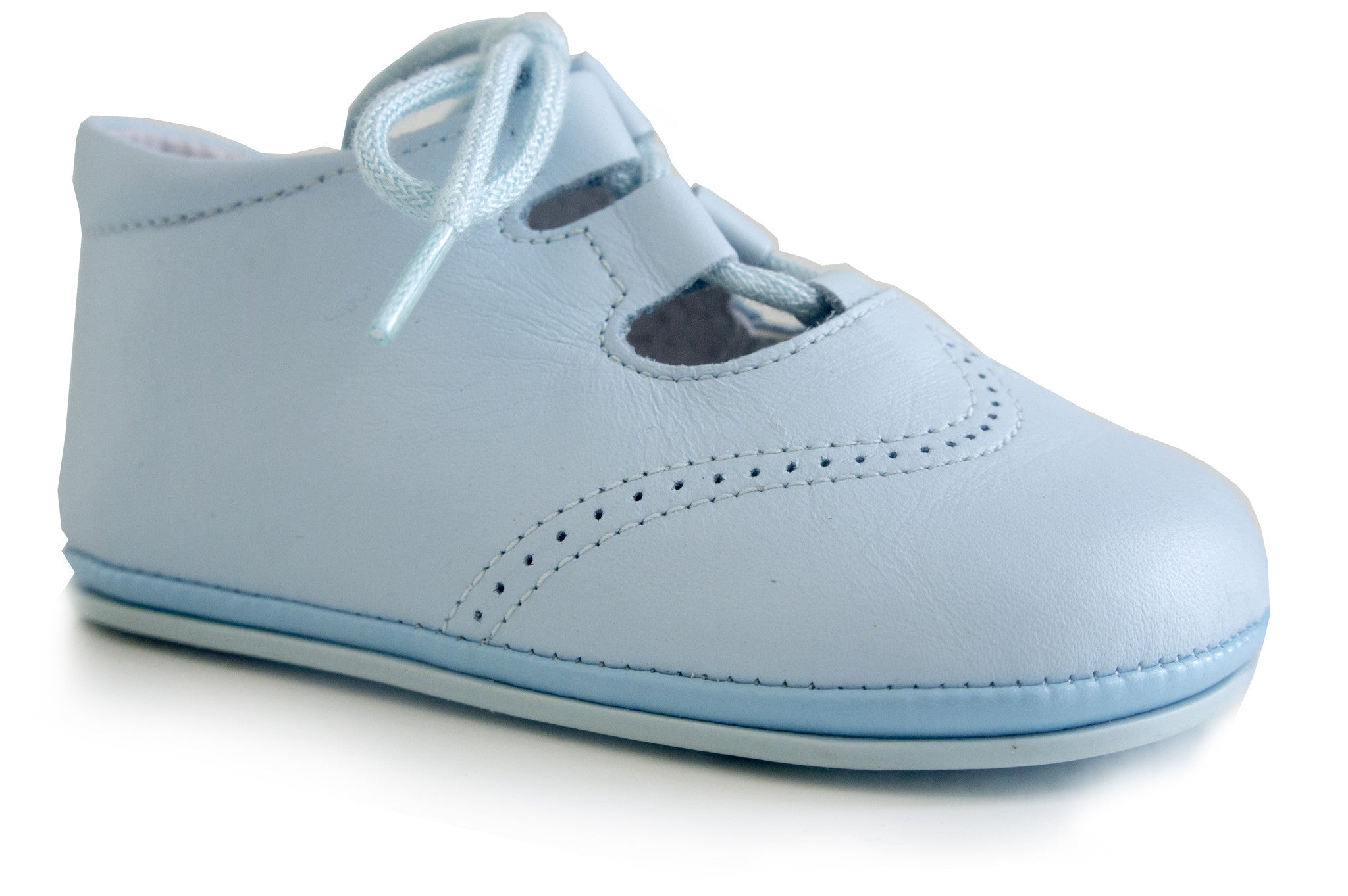 Classic Blue leather Shoes for Baby Boys