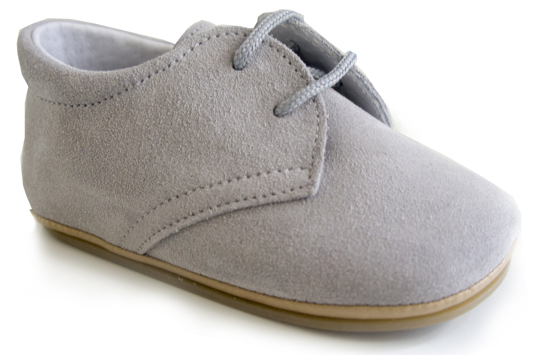 Classic Soft Leather Booties Unisex for Boys and Girls velvet grey by Patucos