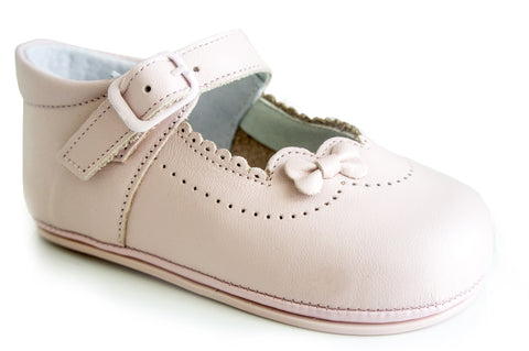 Patucos Infant Classic leather Pink Shoes for Girls