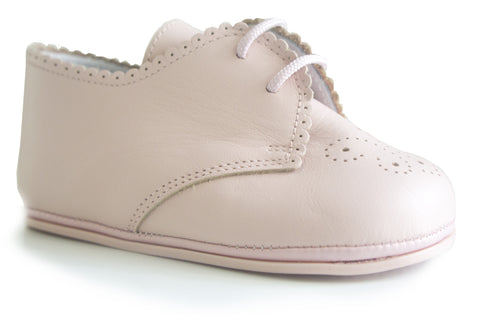 Classic Pink leather Booties for Baby Girl