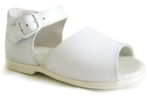 Casual Sandals White unisex for boys and girls Patucos Leather Shoes