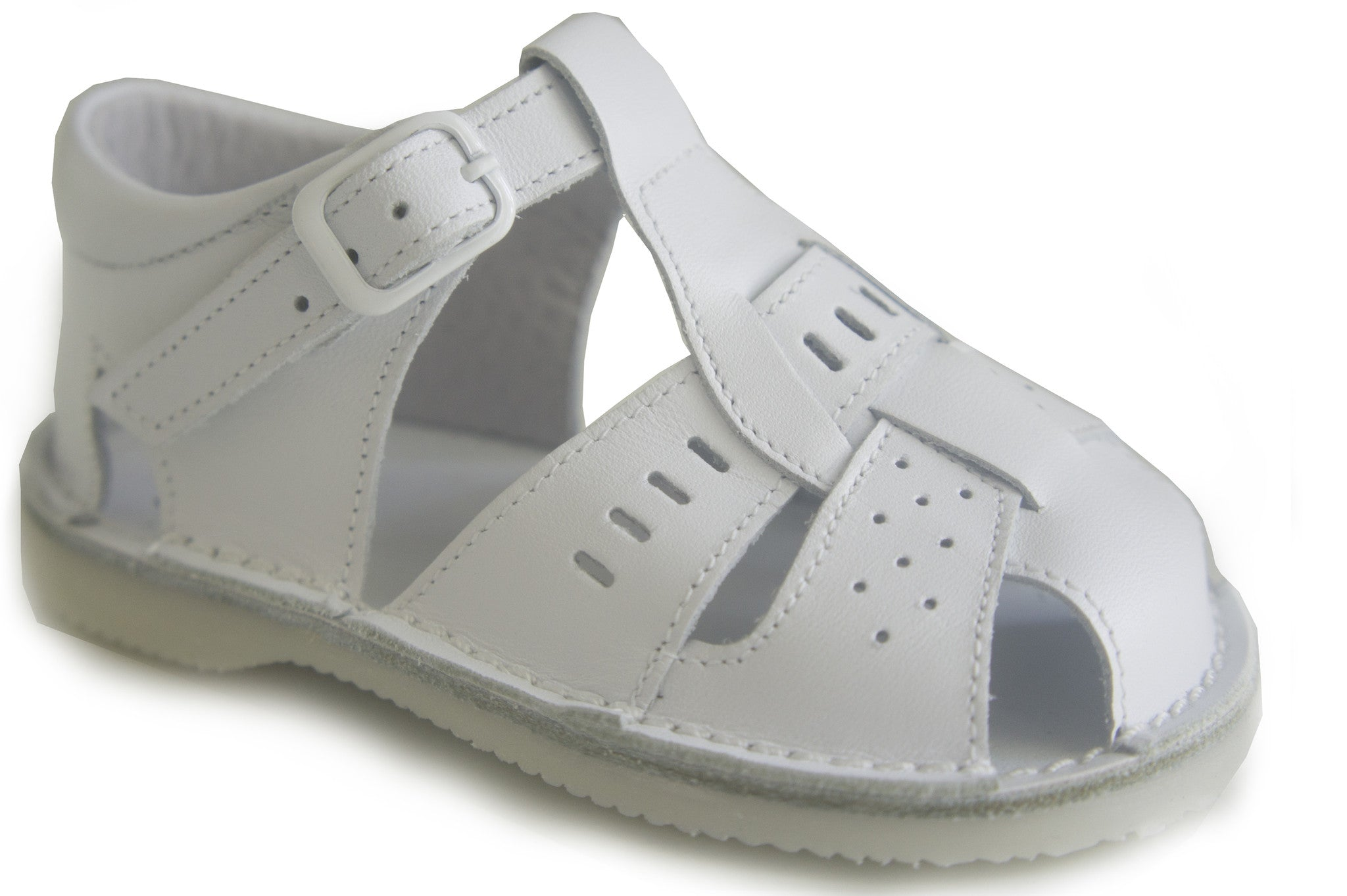 Casual Sandals White for Boys Leather Patucos Shoes for baby and infant