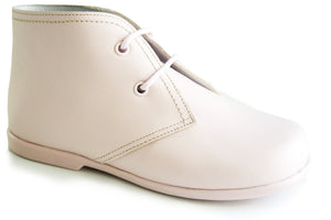 Classic Light Pink leather Boots for Girls by Patucos