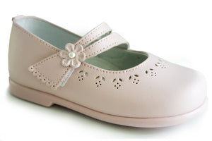 Casual Mary Janes Pink for Girls soft Leather Patucos Shoes for girls