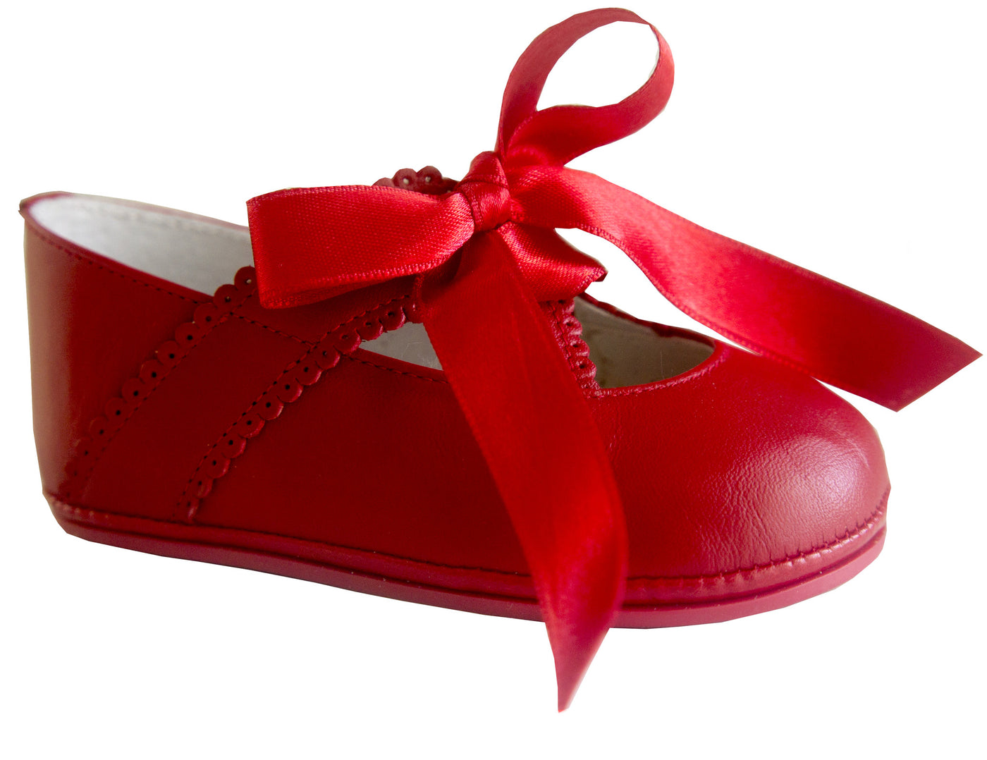 Patucos Infant Classic Red Shoes for Girls
