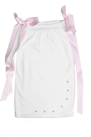 Shirttail White with Pink laces Pima Cotton