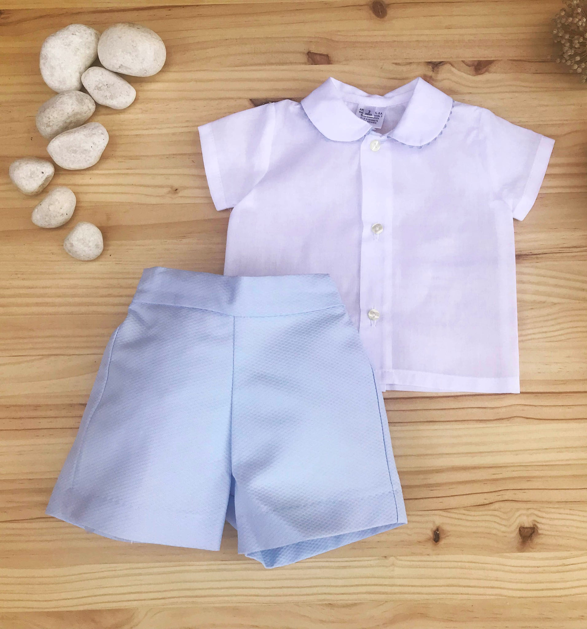 Elegant Boys Outfit- Shirt and Pants Blue