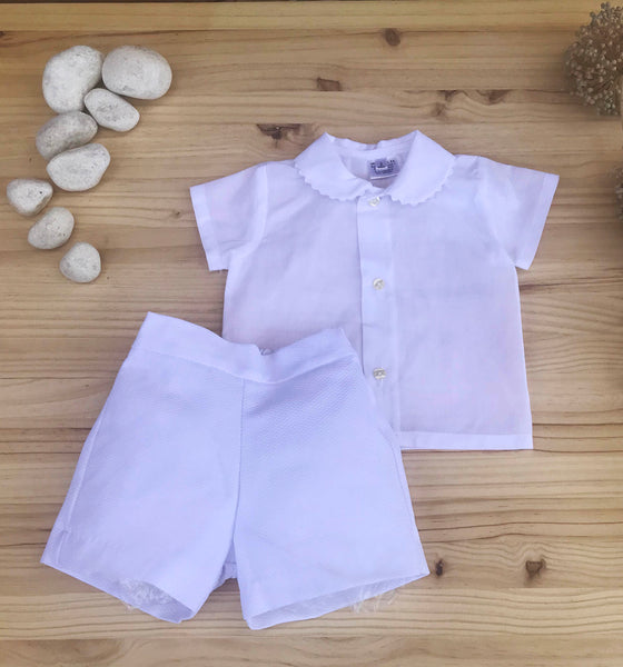 Elegant Boys Outfit- Shirt and Pants White