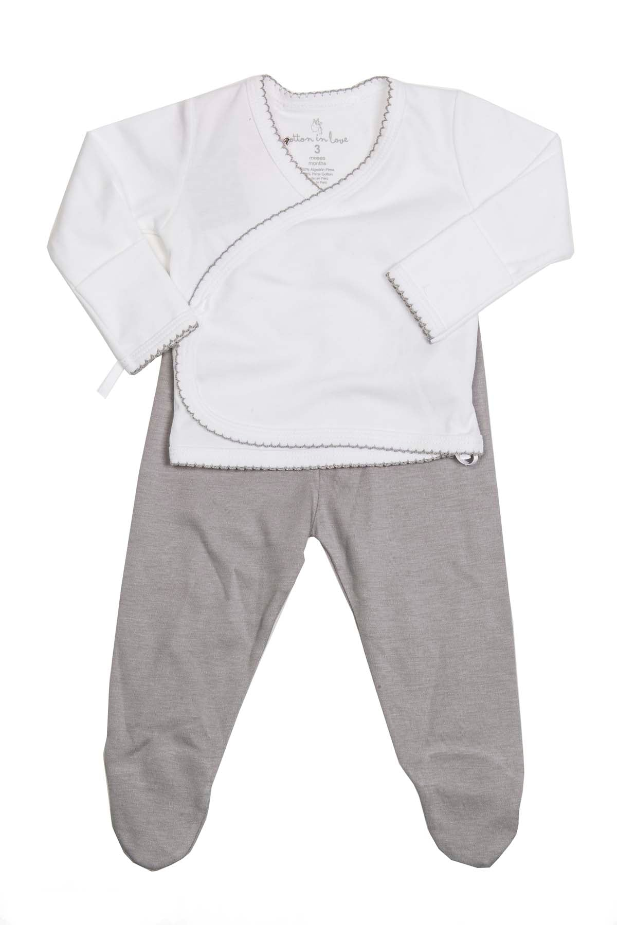 Newborn Set 2 pieces Grey Pima Cotton