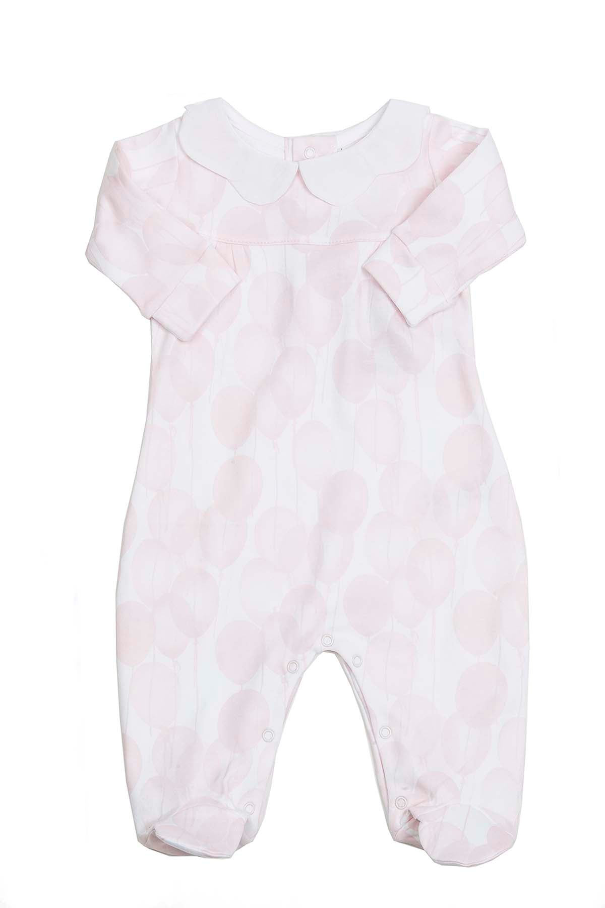 Pink Pajama Balloons with scallop neck Pima Cotton