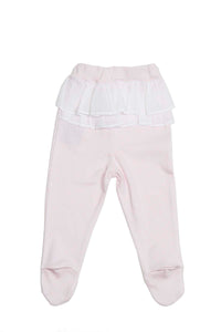 Pink ruffled Pants Pima Cotton