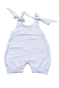 Baby Rompers Stars Blue Pima Cotton